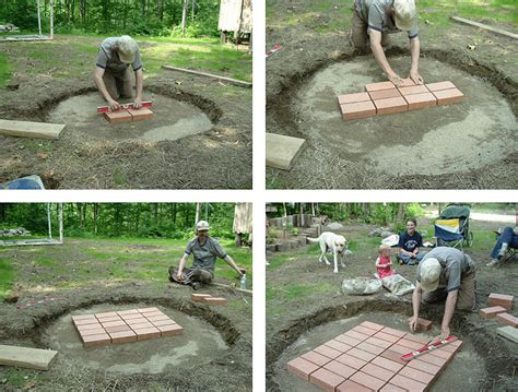 building pit from bricks build an ark building a firebrick pit