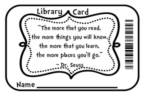 Library Id Card Template by Des Moines Parent 10 Week Home Organization Challenge