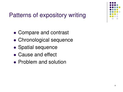 pattern of expository writing ppt language arts and reading study topics powerpoint