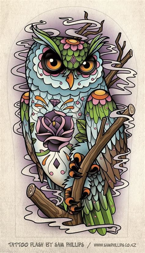 Sugar Owl Tattoo Design | life tattoo 25 prepossessing sailor jerry tattoo flash