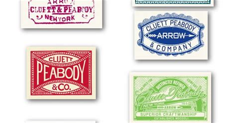 arrow cluett labels and packaging by glenn wolk via arrow cluett labels glenn wolk badgography pinterest