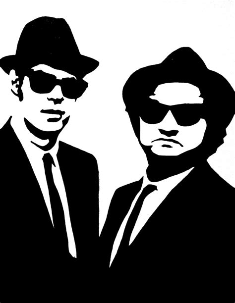 blues brothers black white pop art canvas painting