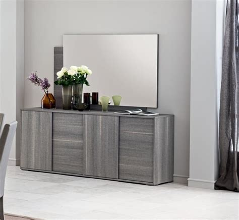 Grey Dining Room Sideboard Futura Grey 4 Door Sideboard Living Room Furniture
