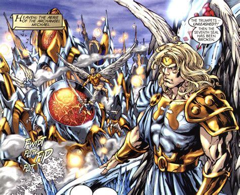 dc universe by mike archangel michael vs mephisto battles comic vine