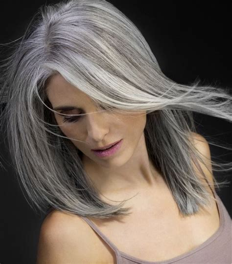 silver highlighted hair styles beautiful hairstyles for short and medium length greyish hair
