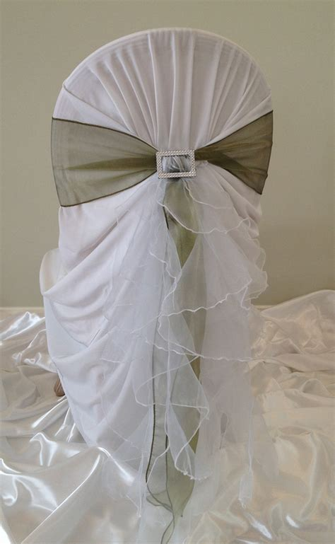 Ruffle Chair Sash by Wedding Chair Covers And Chair Cover Hire Sydney And