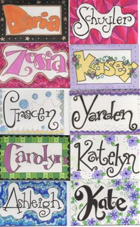 doodle name tags name tags i drew for i work with 3