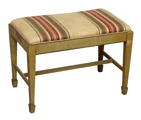 upholstered wooden bench wooden bench or piano bench with upholstered seat olde
