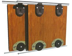 New Bottom Rolling Kit For Wardrobes Up To 3m Wide Rolling Closet Door Hardware