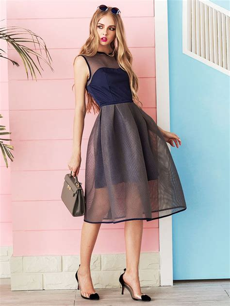 Mesh Mix Skater Dress W8741 White 20 best mesh dress trend mix and mesh images on