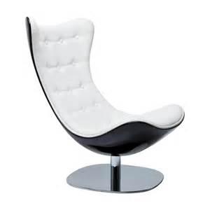 fauteuil design noir et blanc atrio deluxe kare