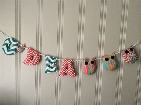 Custom Made Baby Shower Banners by 17 Best Luce Fabric Name Banners Images On