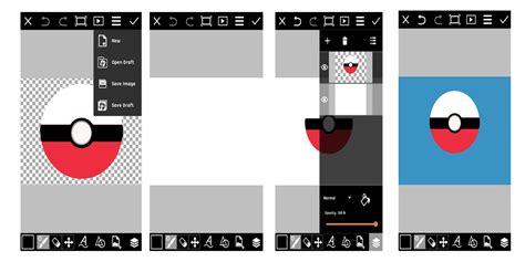 membuat gambar format png tutorial picsart cara membuat gambar pokeball dengan