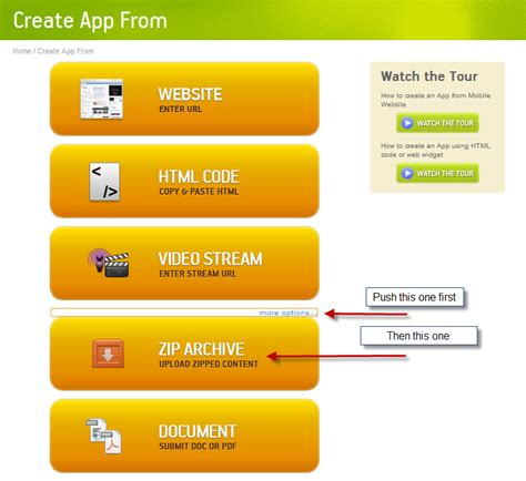 create an android app zip archives make apps available offline
