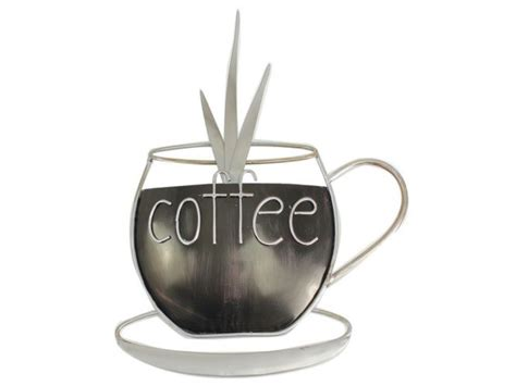 metal plaque kitchen coffee cup wall ornament home