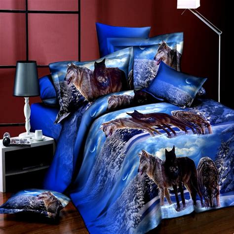 wolf bedding 2016new wolf bedding sets 3d bedclothes duvet cover sets