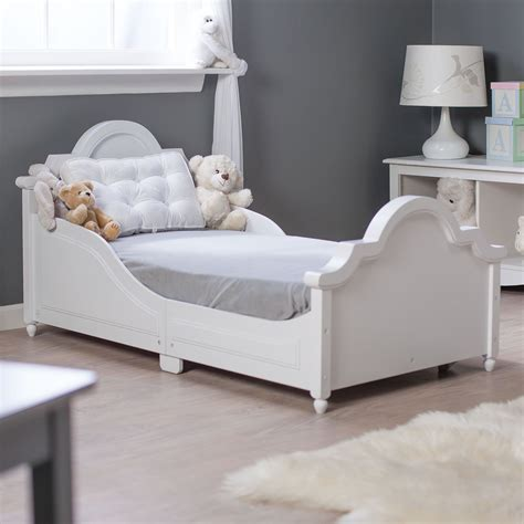 kid bed kidkraft raleigh toddler bed white 86941 toddler beds