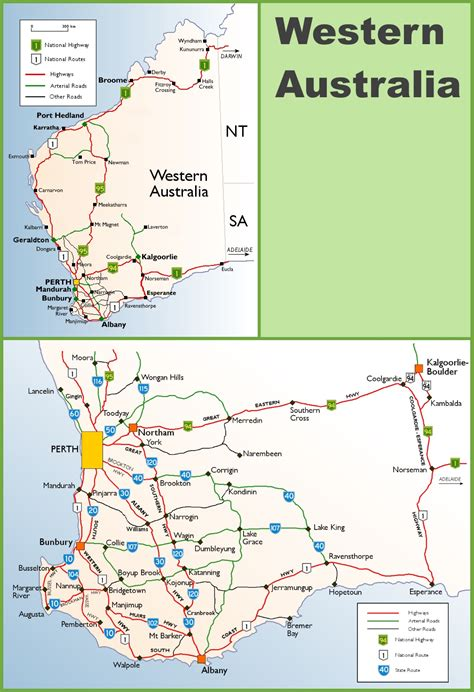 Search Australia Detailed Map Western Australia Images