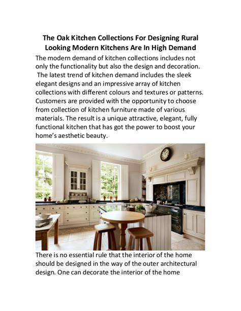 kitchen collections com the oak kitchen collections for designing rural looking