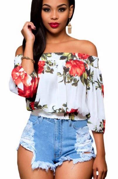 Flower Top Blouse Crop Top blouse floral floral top floral blouse crop cropped