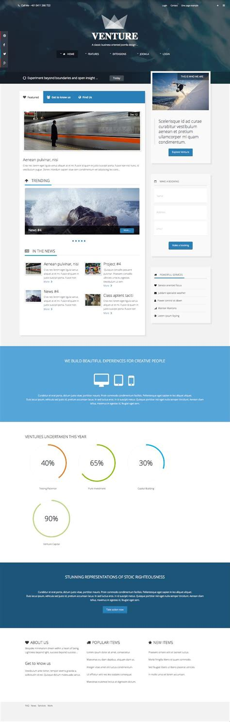 joomla template layout builder venture joomla template for magazine news business design