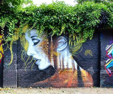 French Wall Murals street art on twitter quot when street art meets nature works