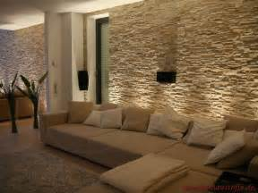 Ideen Zur Wandgestaltung Wohnzimmer Riemchen Mit Lichteffekten Im Wohnzimmer Mediterraner