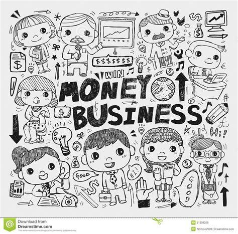 business doodle vector free doodle business element royalty free stock photos image