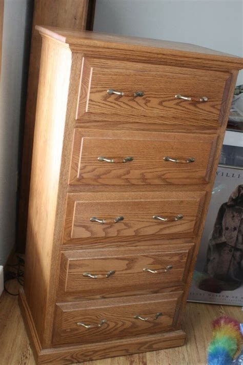 amish  oak chest  drawers  dividers local pick   ebay