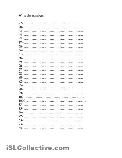 spanish numbers 1 100 worksheet printable 12 best images of practice writing numbers 1 to 100