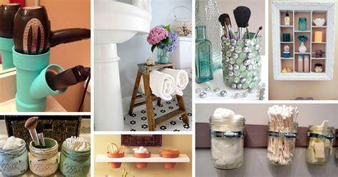 diy projects for bathroom 30 diy storage ideas to organize your bathroom cute diy