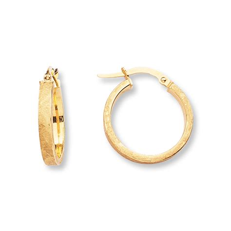 jared hoop earrings 14k yellow gold