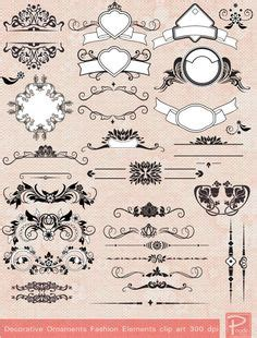 Wedding Fonts Pack Free by Luxurious Flourishes Vector Pack 543 Vector Ornaments