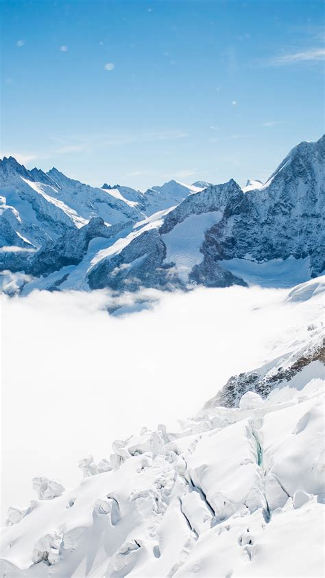 wallpaper bernese alps jungfrau summit switzerland