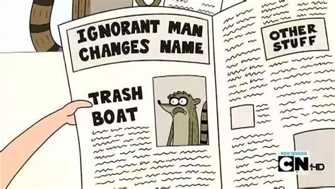 trash boat cartoon regular show season 3 episode 23 trash boat watch
