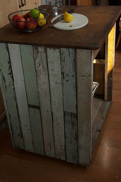 Handmade Wooden Kitchens - handmade reclaimed wood industrial kitchen island table