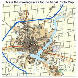 aerial photography map of decatur il illinois