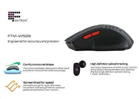 Fantech Gaming Mouse Wireless 2000 Dpi Diskon fantech gaming mouse wireless 2000 dpi black jakartanotebook