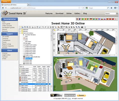 sweet home 3d home design software sweet home 3d free software freeware open source