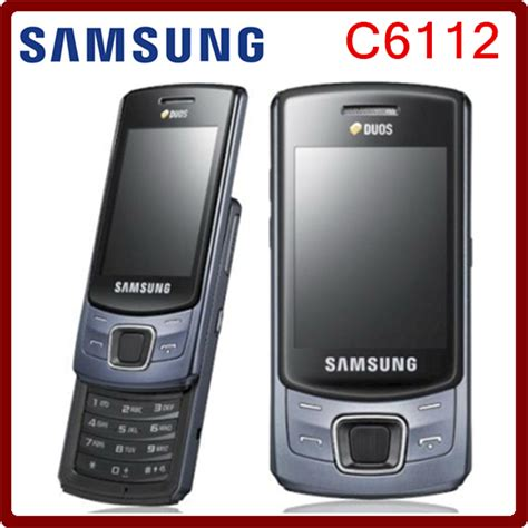 aliexpress mobile phones c6112 original unlocked samsung c6112 dual sim cards