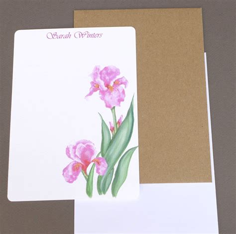 personalized writing paper stationary custom writing paper personalized flat note cards