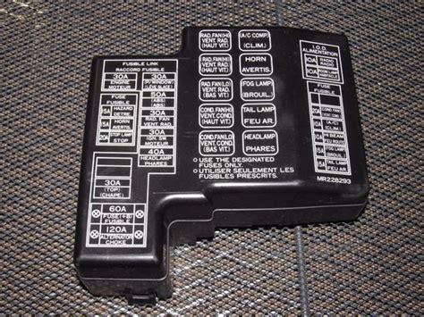 mitsubishi eclipse oem engine fuse box cover autopartonecom