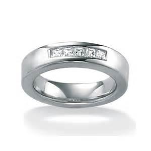 Jewelry men s cubic zirconia platinum ss wedding ring walmart com