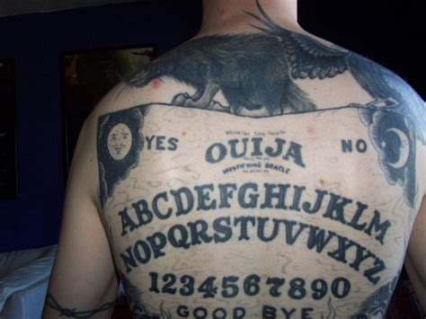 ouija board tattoo of the beautiful grotesque ouija board ouija board