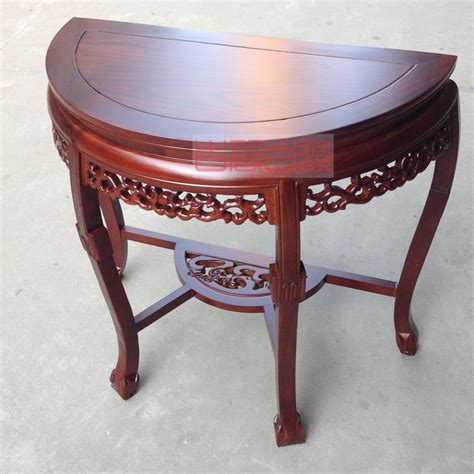 Spa Sisir Pijit Keramas Limited elm ruang depan setengah roundtable konsol meja dinding setengah lingkaran meja kayu meja