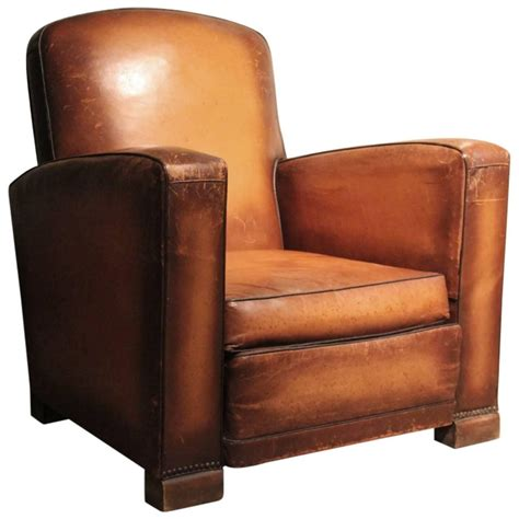 armchair com circa 1930s single leather armchair at 1stdibs