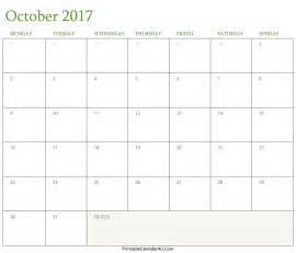 Calendar 2017 October November Word October 2017 Calendar Printable In Word Pdf Monthly