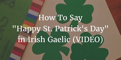 how to say happy s day in learning bitesize gaelic