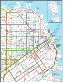 san francisco map of downtown san fran muni large downtown map travels buses the o jays and the marina