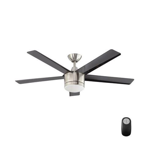 brushed nickel ceiling fan light kit merwry 52 in led indoor brushed nickel ceiling fan with